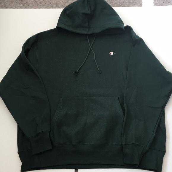 64d73564 Champion Shirts | Sale Mens Hoodie 2x Large Dark Green | Poshmark